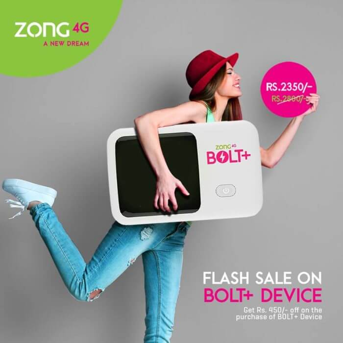 Zong 4G Bolt+ package